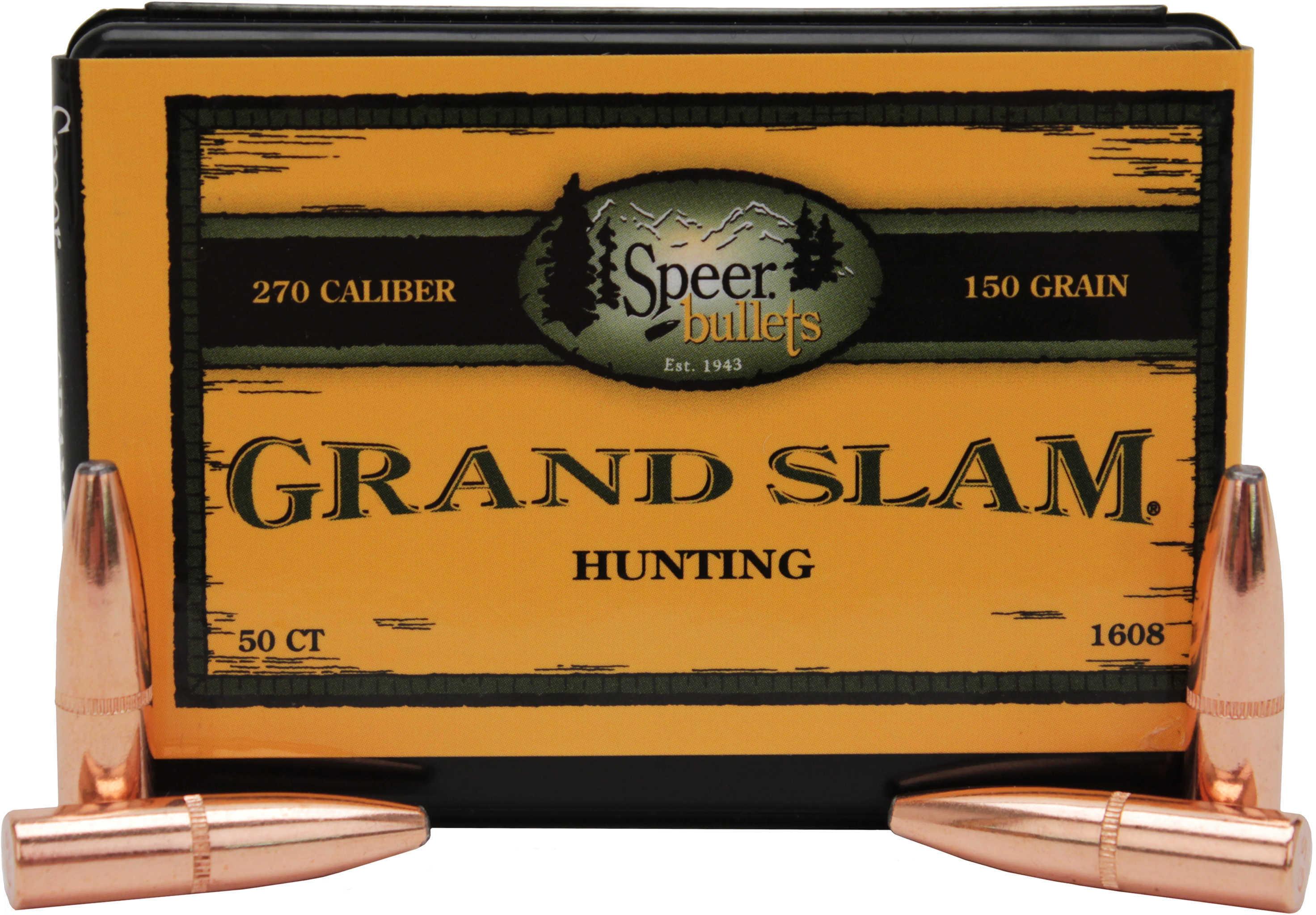 Speer 270 Caliber 150 Grains SP Grand Slam Per 50 Md: 1608 Bullets