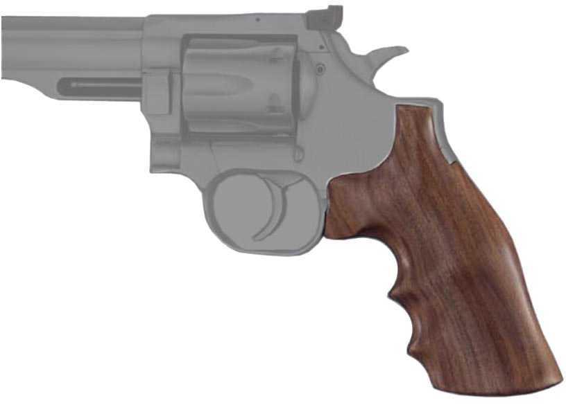 Hogue Wood Grips - Pau Ferro Dan Wesson Small Frame Square Tang Md: 57300
