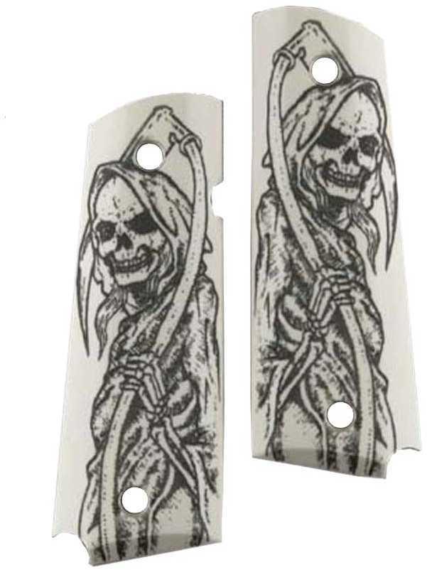Hogue Scrimshaw Grips Grim Reaper Full-Body Md: 45029