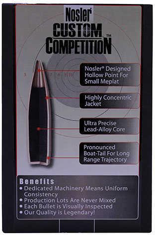 Nosler 6.5mm Caliber 140 Gr. Hollow Point Boat Tail Per 100 Md: 26725 Bullets