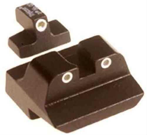Trijicon S&W .45 Long Rear, 3 Dot Front & Rear Night Sight Set Md: SA09