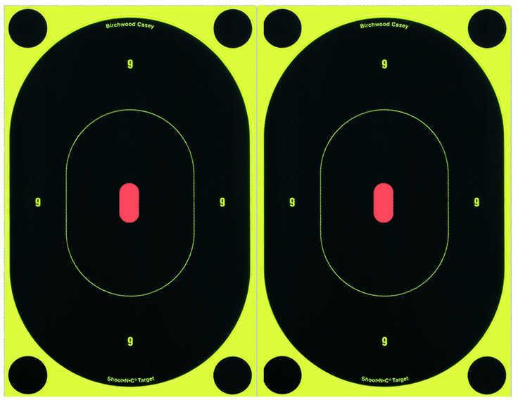 "Birchwood Casey Shoot-N-C Targets: Silhouette 7"" Oval Target Per 12 Md: 34710"
