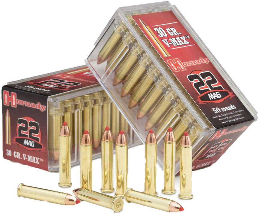 22 WMR By Hornady 30 Grain V-Max Per 50 Ammunition Md: 83202