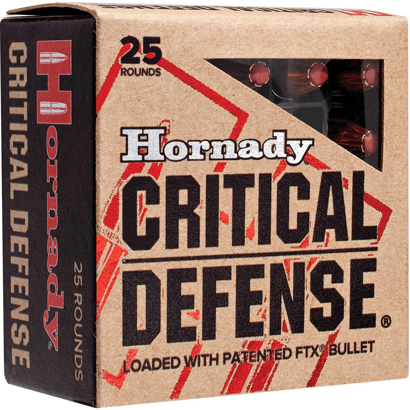 Hornady Critical Defense 38 Special+P 110Grain Per 25 Ammunition Md: 90311