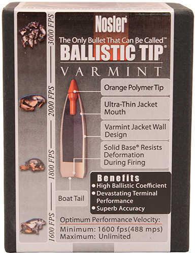 Nosler Ballistic Tip 22 Cal. 60 Grains Per 100 Md: 34992 Bullets