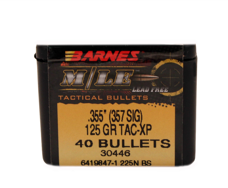Barnes Tactical-X Bullets .355 357 Sig 125 Grains Md: 35503