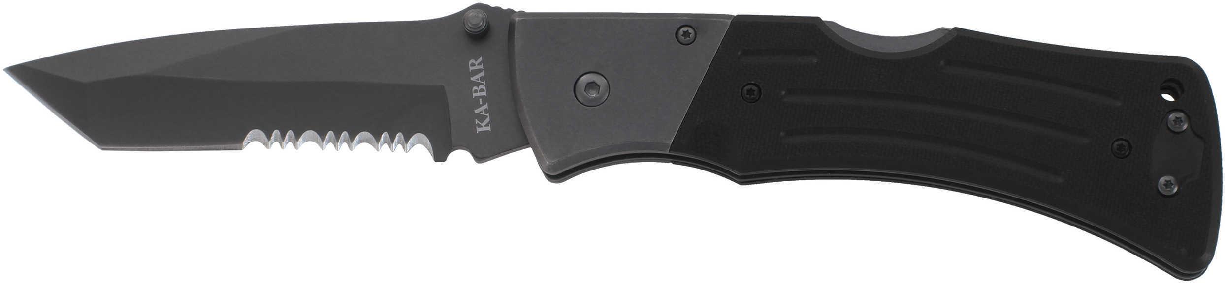 Ka-Bar G10 Mule Folder Tanto Blade, Serrated Edge Md: 2-3065-3
