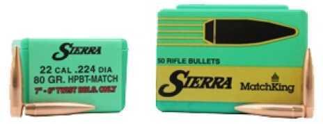 Sierra 22 Caliber (.224) 80 Grains HPBT (Per 50) Md: 9390T
