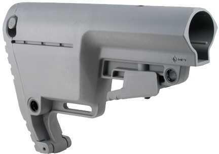 Battlelink Utility Low Profile Stock MilSpec Grey Md: BULSMILGY