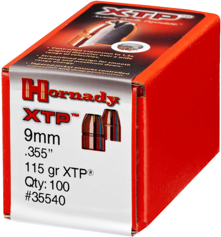 Hornady 9mm Bullets 115 Grain HP/XTP Per 100 Md: 35540