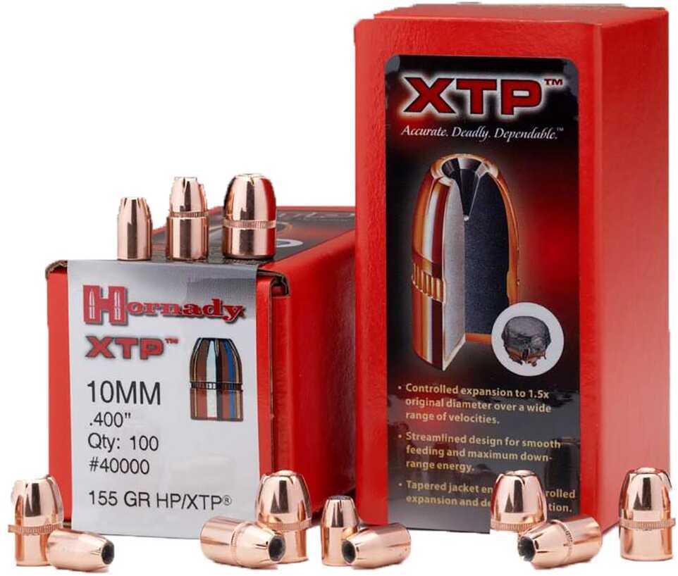 Hornady 10mm Bullets 155 Grain HP/XTP Per 100 Md: 40000