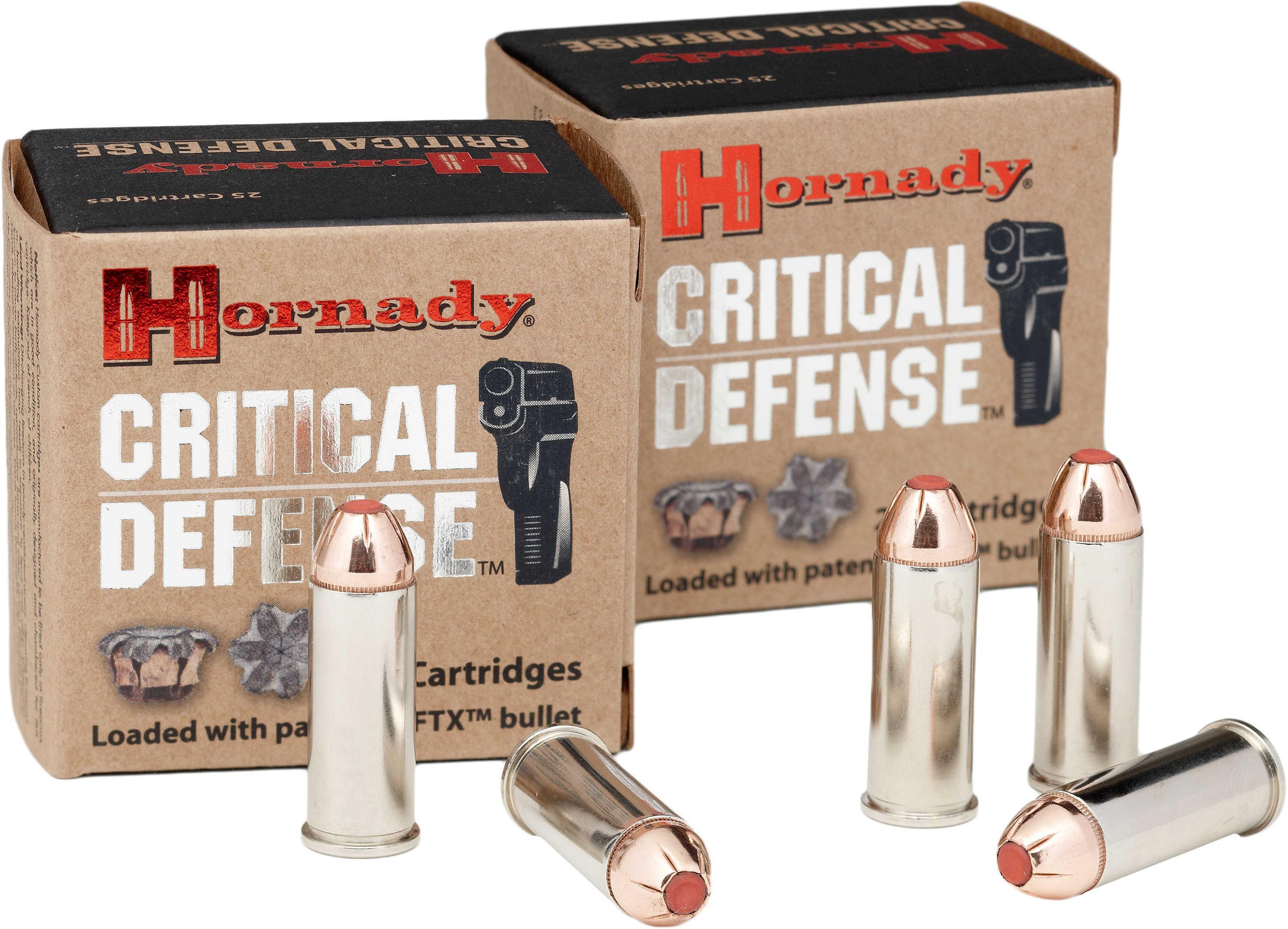 Hornady 44 Special 165 Grain FTX Critical Defense (Per 20 Rounds) Md: 90700 Ammunition