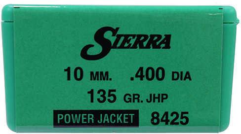 Sierra 10mm 135 Grains JHP Per 100 Md: 8425 Bullets