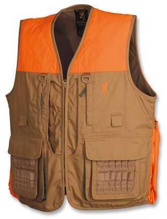 Browning Upland Vest With Blaze Trim, Field Tan XXX-Large Md: 3051193206