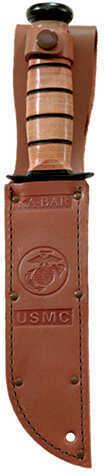 "Kabar 1217 USMC Fight 7"" 1095 CroVan Straight Leather Handle & Sheath"