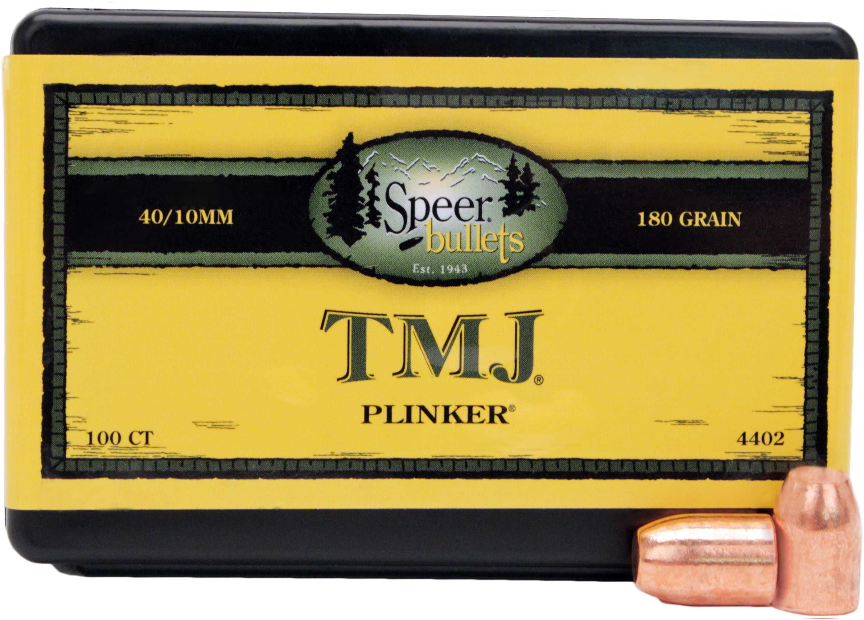 Speer 40/10MM Caliber 180 Grain Encased Uni-Core Full Metal Jacket 100/Box Md: 4402 Bullets