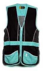 Browning Lady Vest Sandoval Aqua/Black Small Md: 3050707501