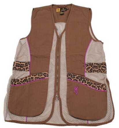 Browning Lady Sahara Brown/Leopard Vest X-Large Md: 3050683804
