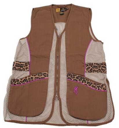 Browning Lady Sahara Brown/Leopard Vest Large Md: 3050683803