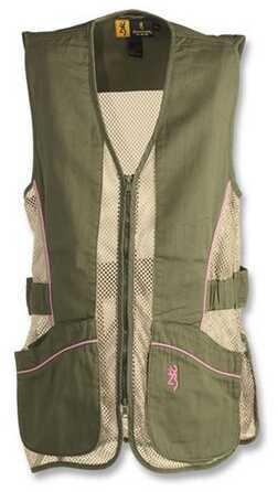 Browning Lady Mesh Vest, Sage/Pink Medium Md: 3050675402