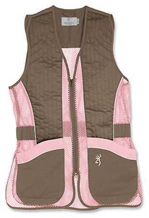 Browning Lady Mesh Vest, Brown/Pink Large Md: 3050678803
