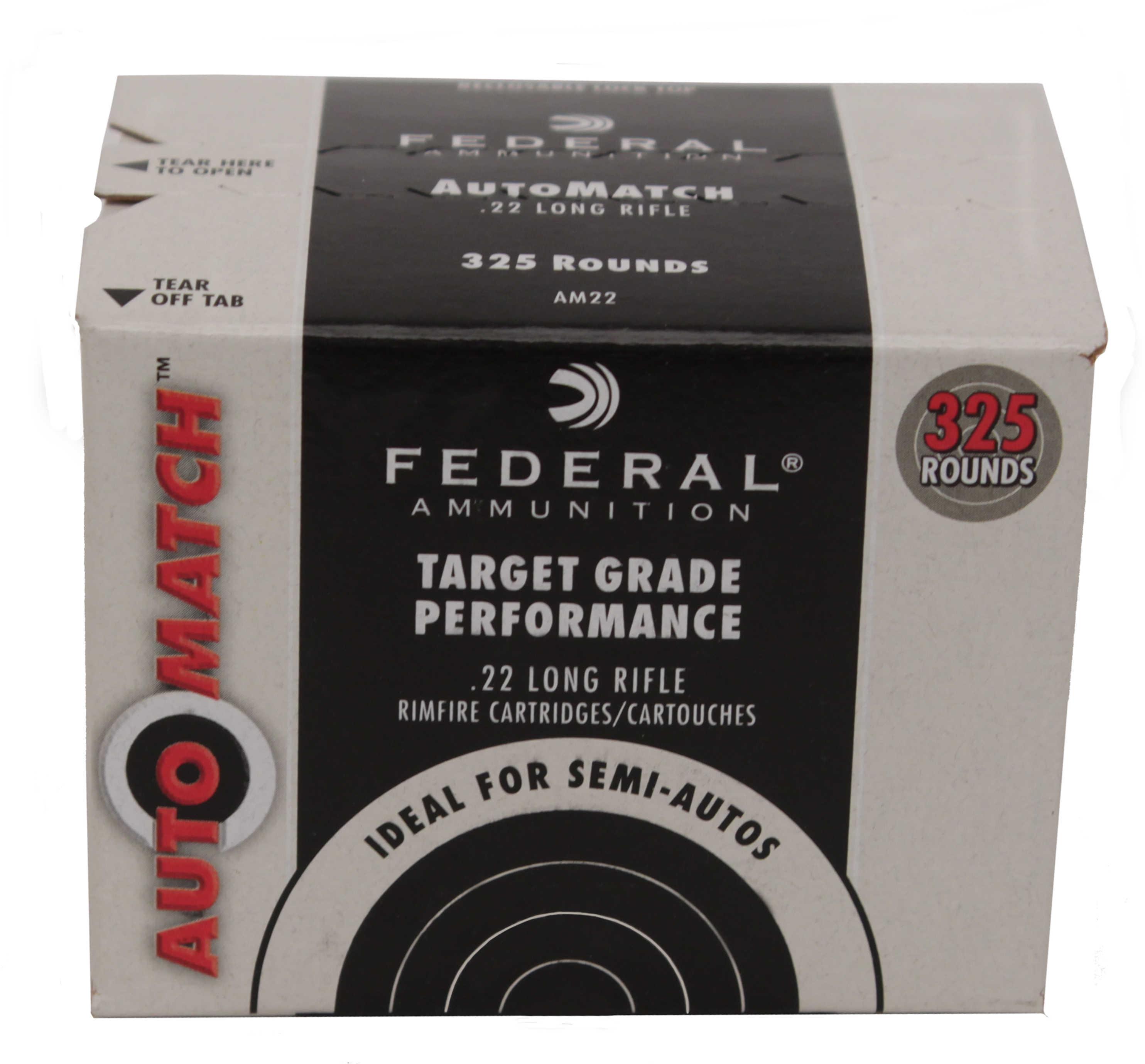 Federal AM22 Champion Training 22 LR 40 GR Lead Round Nose (LDRN) 325 Box