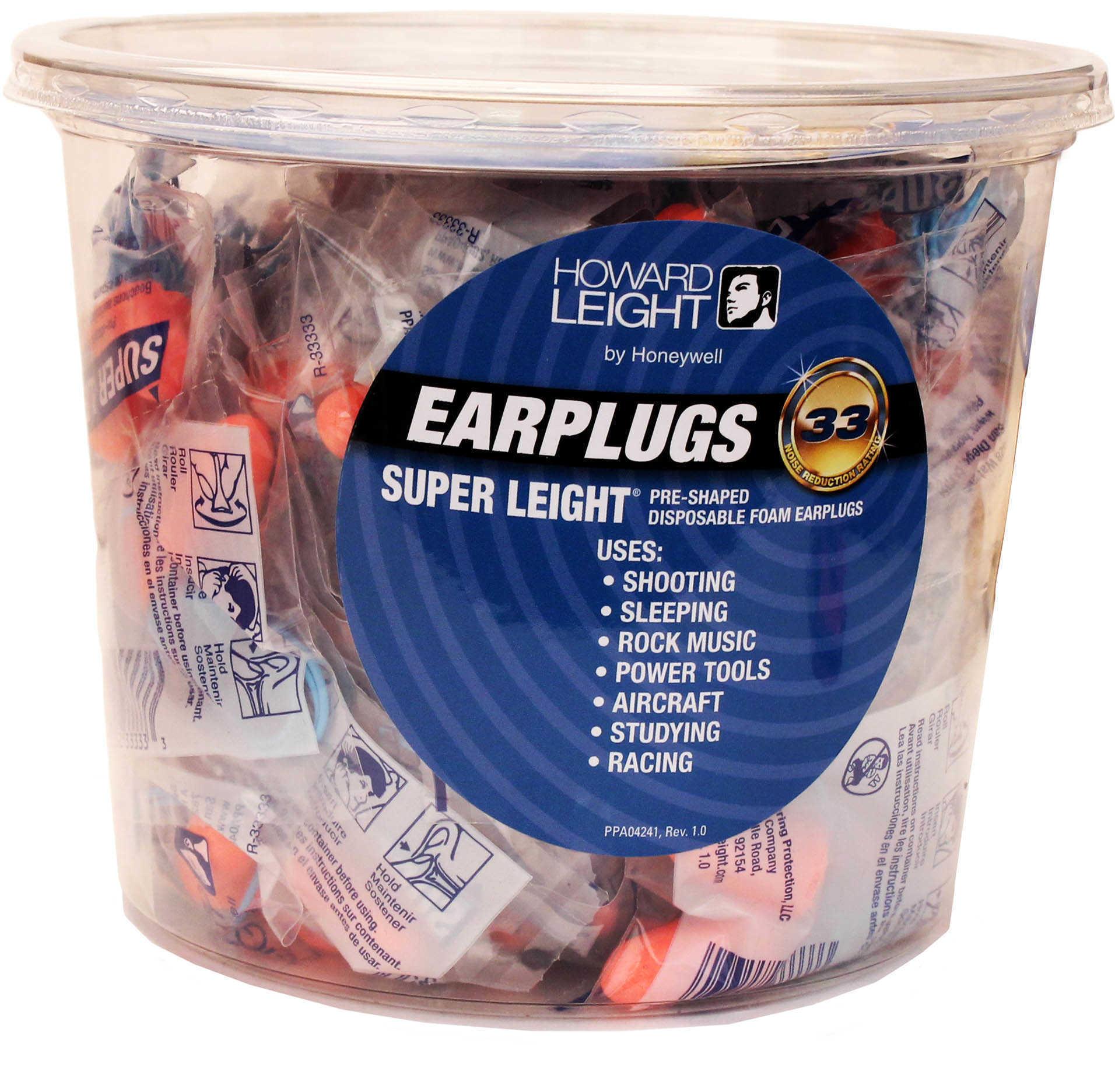 Howard Leight 50 Pair Corded Foam Orange Ear Plugs Md: R33333