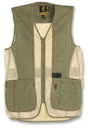Browning Rhett Mesh Vest Olive/Tan, 3XL Md: 3050297406