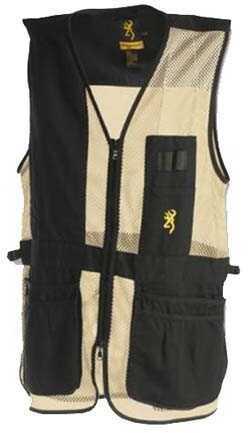 Browning Trapper Creek Vest Black/Tan X-Large Md: 3050268904
