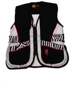 Browning Lady Sahara Black/Zebra Vest Youth, Large Md: 3050543903