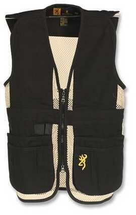 Browning Jr Trapper Creek Vest, Black/Tan Large Md: 3050548903