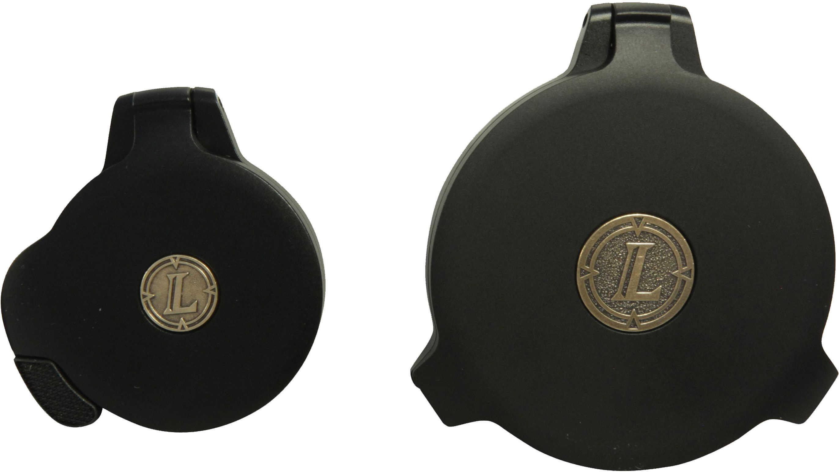 Leupold 62990 Alumina Flip-Back Lens Cover Kit 40mm Standard EP Slip On Aluminum Black Matte