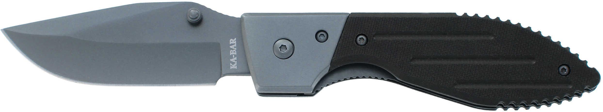 "Ka-Bar 3072 Warthog Folder 3"" 5Cr15 Stainless Steel Clip Point G10 Black"