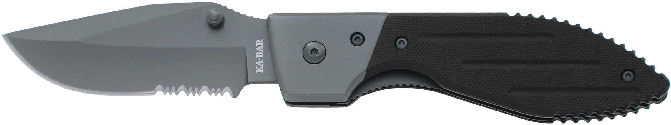 "Ka-Bar 3073 Warthog Folder 3"" 5Cr15 Stainless Steel Clip Point G10 Black"