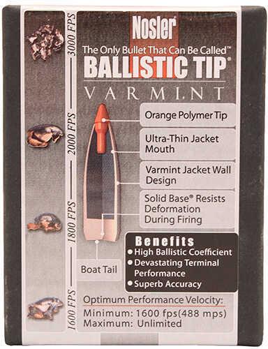 Nosler Varmint Ballistic Tip 22 Caliber 55 Grain Spitzer 100/Box Md: 39526 Bullets