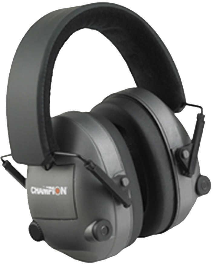 Champion Black Adjustable Electronic Earmuffs Md: 40974