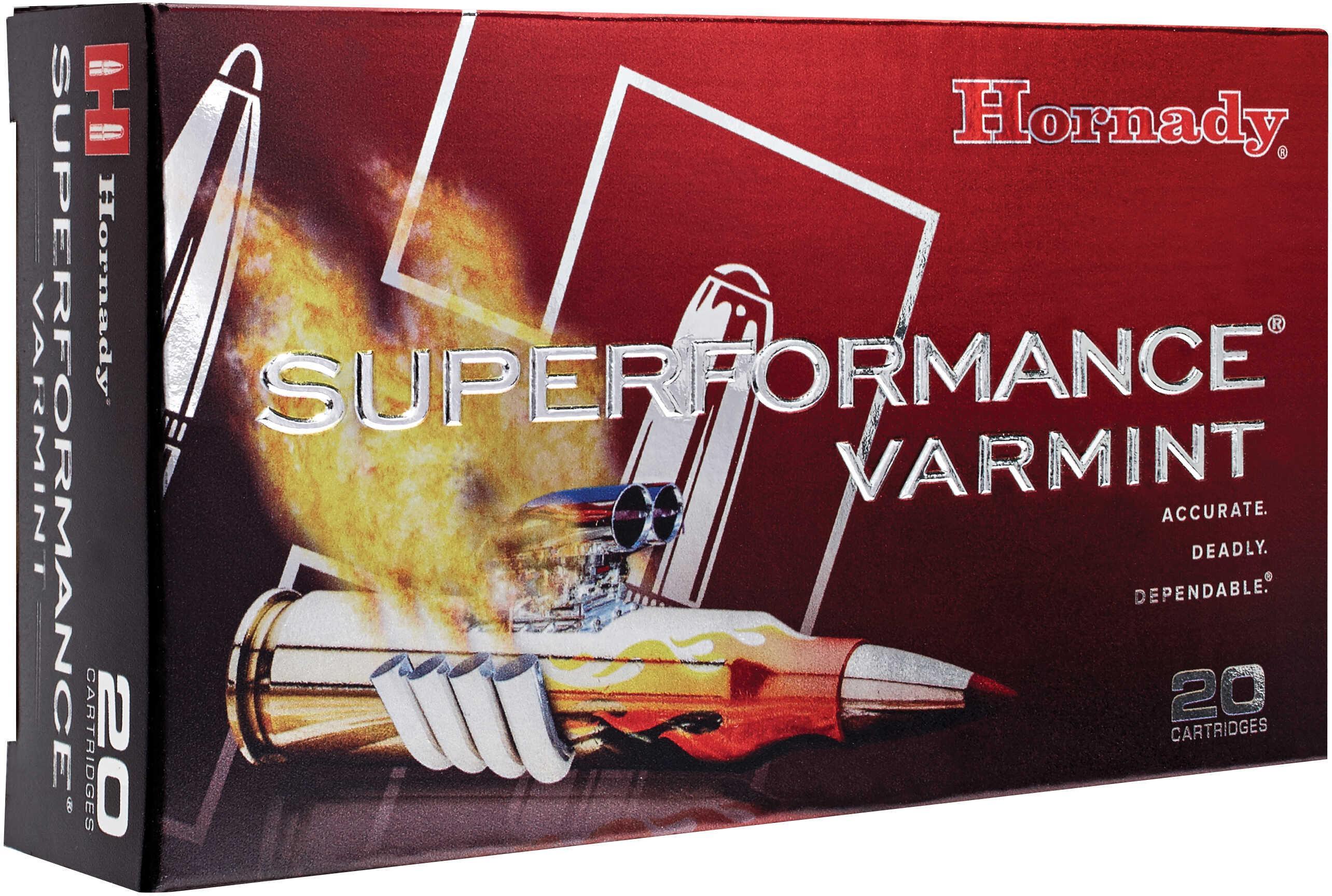 Hornady 222 Remington 50 Grain V-Max SuPerformance Varmint (Per 20 Rounds) Md: 8316 Ammunition