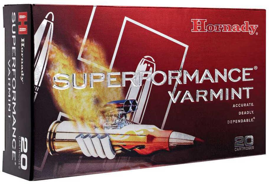 22-250 Remington Ammunition By Hornady 50 Grain V-Max SuPerformance (Per 20) Md: 83366