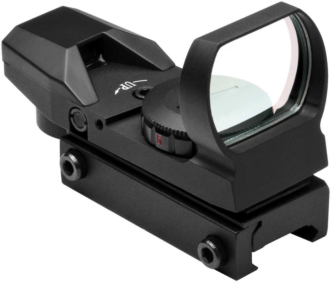 NCStar D4RGB Reflex Optic 1x 24x34mm 3 MOA Illuminated 4 Pattern Red/Green CR2032 Lithium Black Anodized