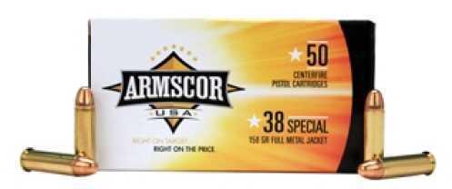 Armscor 38 Special Ammo 158 Grain FMJ (Per 50) Md: 50061