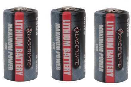 Laserlyte Batteries Cr-123, 3 Pack: K-15, K-15T Md: Bat-Cr123