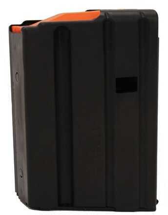AR-15 Magazine .223 Stainless Steel Matte Black/Orange Follower 10 Round (Per 100) Md: 1023041178CPDC