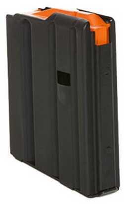 AR-15 Magazine .223 Stainless Steel Matte Black/Orange Follower 10 Round Cs Spring Md: 1023041188Cpd