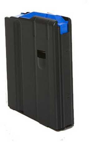 AR-15 Magazine 6.5mm Stainless Steel Matte Black/Blue Follower 5 Round Md: 0565041186Cpd