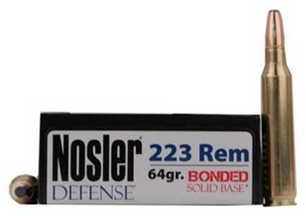 Nosler 223 Remington 64 Grain Bonded Solid Base (Per 20) Md: 39674