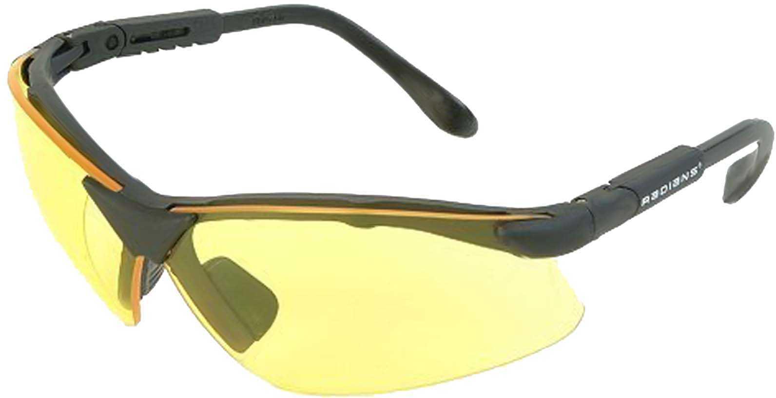 Revelation Shooting Glasses Amber Yellow Lenses Lens Angle & Temple Length adjustments - Wraparound Coverage & Side-shie