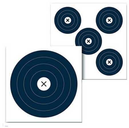 """Birchwood Casey Eze-Scorer Archery Blue 2 Side, 18"""" X 18"""" 5 Pack Md: 37406"""