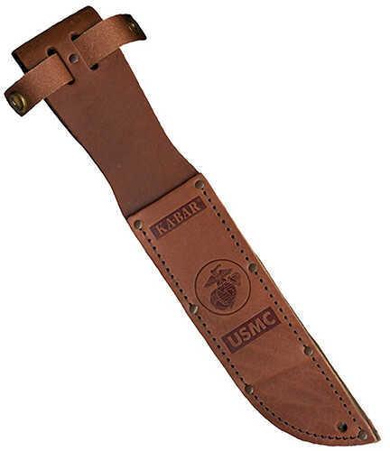 Ka-Bar Leather Sheath Usmc Logo, Brown Md: 3-1250S-2