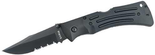 Ka-Bar Mule, Black, Polyester Sheath Serrated Edge Md: 4-3051CP-0