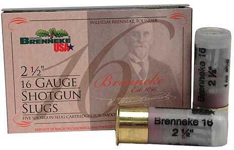 """Brenneke 16 Gauge 2.5"""" .75 Oz Slug (Per 5) Md: SL-161Br-1601920"""